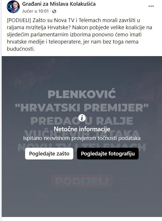 JE LI CENZURI NAPOKON DOŠAO KRAJ? Kolakušić prijavio Faktograf zbog kršenja slobode govora