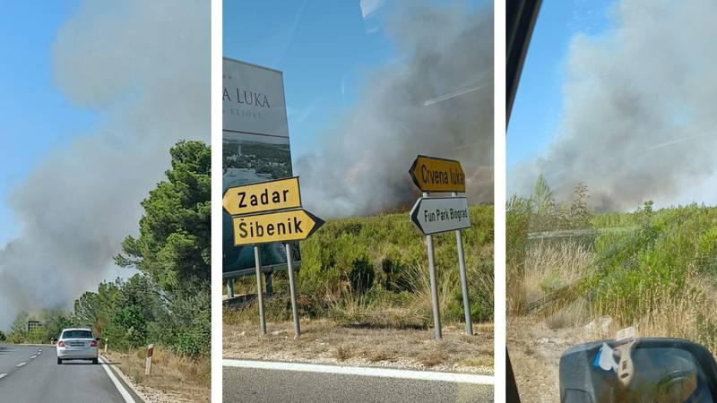 Buknuo je veliki požar blizu Vranskog jezera: 'Proširilo se, morat ćemo zvati i kanadere!'