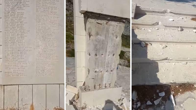 Čekićima razbili spomenik žrtvama Drugog svjetskog rata na Pelješcu: 'Ovo je sramota'