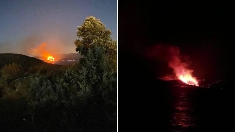 VIDEO Gori kod Starog Grada na Hvaru: Bura razbuktava vatru, sve vatrogasce poslali na teren