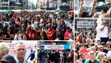 FOTOGALERIJA Transparenti i poruke: Ovako je izgledao 'Festival slobode'  na trgu