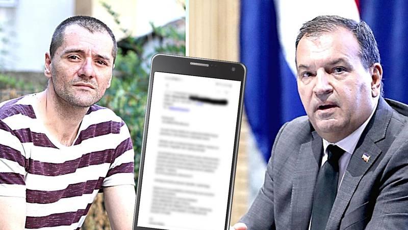 Pisao Berošu, došla mu policija: Ministar kaže da je problem u kontekstu. Evo cijelog maila!