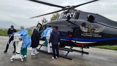 Trudnica helikopterom hitno prebačena iz Sarajeva u Zagreb